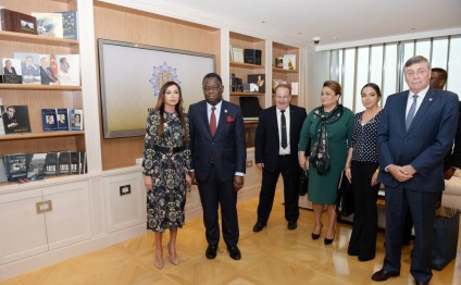 Azerbaijan`s first lady meets UNFPA Executive Director and UN Under-Secretary-General