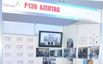 AZERTAC demonstrates its stand at BakuTel-2015