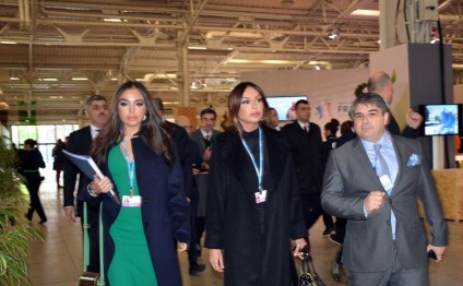 President of Heydar Aliyev Foundation Mehriban Aliyeva and Vice-President Leyla Aliyeva attend COP21 Climate Change Conference in Paris