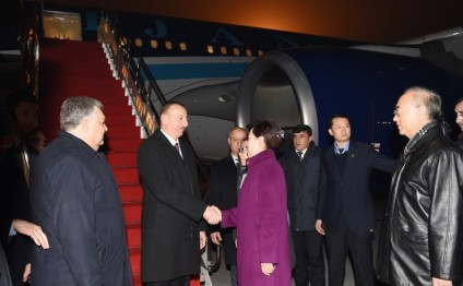 President Ilham Aliyev arrived in China on a state visit