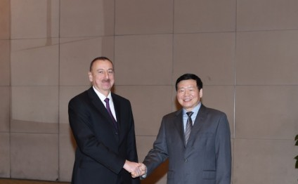 President Ilham Aliyev met with Governor of Shaanxi Province Lou Qinjian