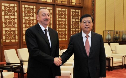 President Ilham Aliyev met with the chairman of the Standing Committee of the National People's Congress of China