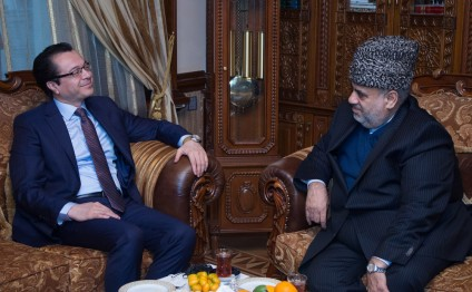Chairman of Caucasian Muslims Office meets Afghan Ambassador