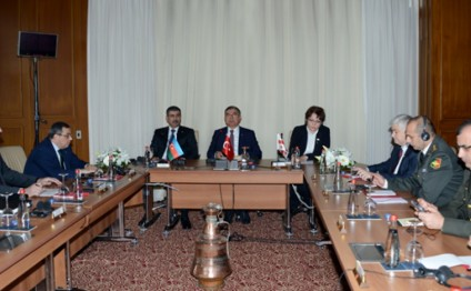 Azerbaijani, Turkish and Georgian Defense Ministers` trilateral meeting held in Istanbul