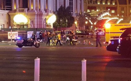 Las Vegas police say car crash that left one dead and 36 injured intentional