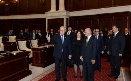 President of Afghanistan visits National Parliament of Azerbaijan
