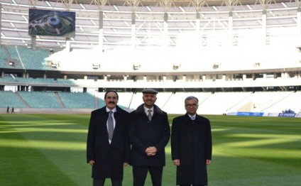 Afghan delegation visits Baku Olympic Stadium