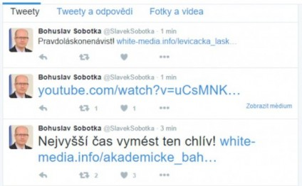 Czech PM's Twitter hacked with anti-immigrant messages