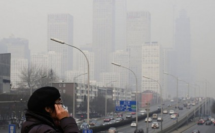 Flights cancelled as heavy smog blankets Beijing