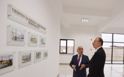 President Ilham Aliyev attended the opening of several electrical substations in Khazar district