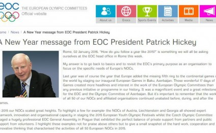 Patrick Hickey: Baku-2015 was a great milestone for EOC
