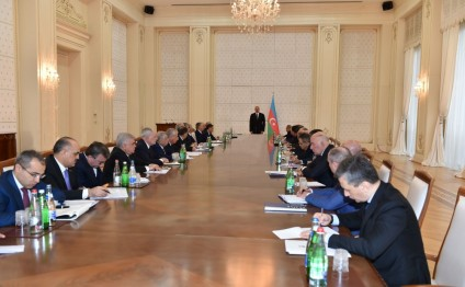 President Ilham Aliyev chaired the meeting of the Cabinet of Ministers dedicated to the results of socioeconomic development of 2015 and objectives for the future
