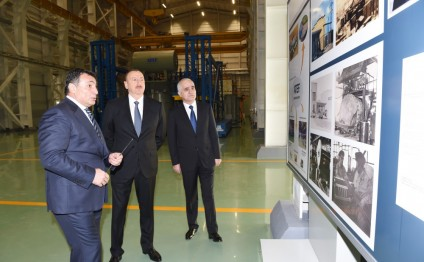 President Ilham Aliyev attended the opening of a large-size transformer plant, and laid a foundation stone for a new enterprise