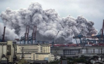 Brazil port fire unleashes toxic gas