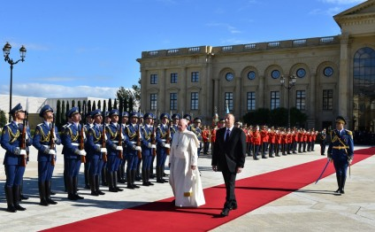 Official welcoming ceremony was held for Pope Francis