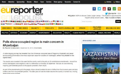 EU Reporter: Polls show occupied region is main concern in Azerbaijan
