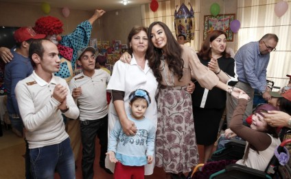 Vice-president of Heydar Aliyev Foundation Leyla Aliyeva visits social service institution for children with disabilities