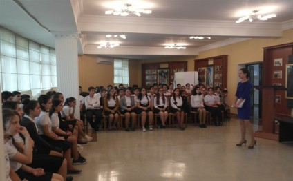 Czech Education Center's reps visit Lyceum named after Academician Zarifa Aliyeva