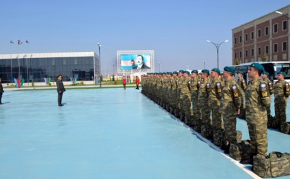 "Defense Ministry: ""A group of Azerbaijani peacekeepers sent to Afghanistan"""