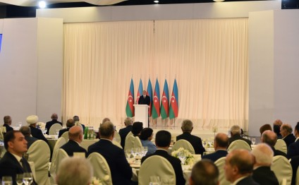 Official reception was held to mark 25th anniversary of restoration of Azerbaijan`s state independence President Ilham Aliyev attended the reception