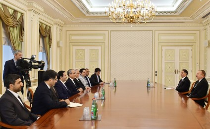 President Ilham Aliyev received delegation led by Governor General of Iranian Ardabil province