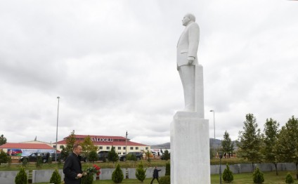 President Ilham Aliyev arrived in Aghstafa district for visit