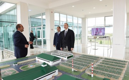 "President Ilham Aliyev inaugurated enterprises and boiler house in ""Karvan-L EKO"" industrial park in Aghstafa"