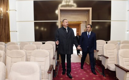 President Ilham Aliyev viewed Aghstafa Cultural Center after renovation