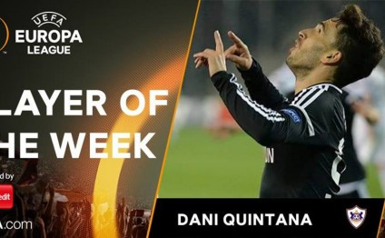 Qarabag midfielder Dani Quintana voted Europa League Player of Week