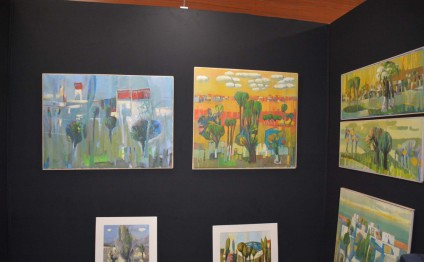 "Azerbaijani artist`s works displayed at ""Art Shopping"" international festival"