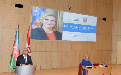 Croatian President gives lecture at ADA University
