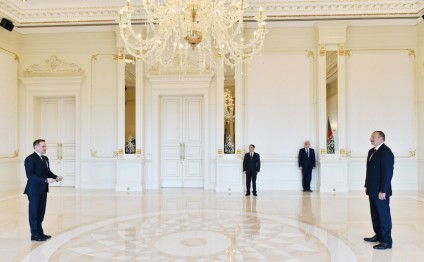 President Ilham Aliyev received credentials of incoming Albanian Ambassador