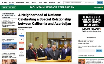Jewish Journal: A Neighborhood of Nations: Celebrating a Special Relationship between California and Azerbaijan