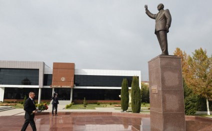 President Ilham Aliyev arrived in Beylagan district