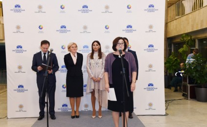 """Stars of Absheron. Azerbaijani artists of 1960-1980s"" exhibition launched in Moscow President of Heydar Aliyev Foundation Mehriban Aliyeva attends the event"
