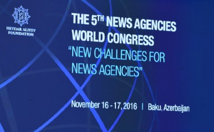 Baku hosts joint opening of 5th News Agencies World Congress and 16th General Assembly of Organization of Asia-Pacific News Agencies President Ilham Aliyev attends the ceremony