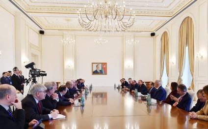 President Ilham Aliyev received group of participants of 5th News Agencies World Congress