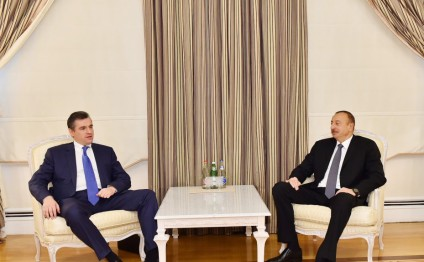 President Ilham Aliyev received Chairman of Russian State Duma Committee on International Affairs