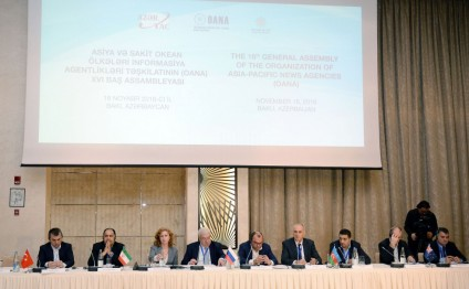 OANA's 16th General Assembly wraps up AZERTAC takes on OANA presidency for 2016-2019