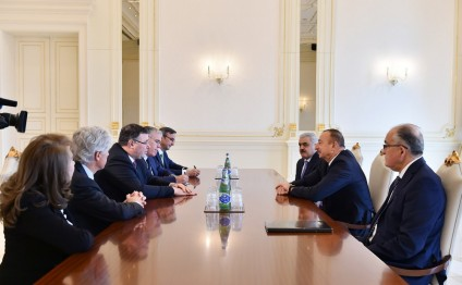 President Ilham Aliyev received Total CEO