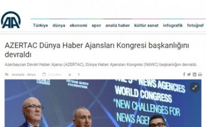 Baku Congress and OANA General Assembly in spotlight of world media