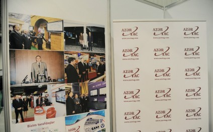 AZERTAC demonstrates its stand at BakuTel-2016