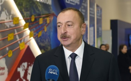 President Ilham Aliyev responded to questions from Euronews and Russia-24 channels