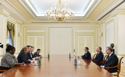 President Ilham Aliyev received representatives of U.S. Department of Commerce