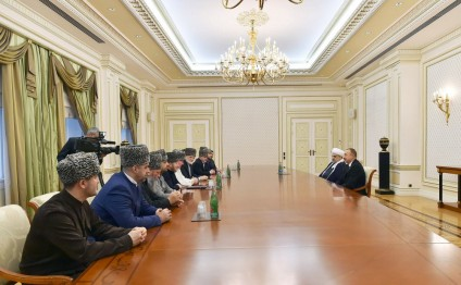 President Ilham Aliyev received members of Supreme Religious Council of Caucasian People