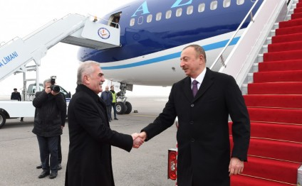 President Ilham Aliyev arrived in Nakhchivan Autonomous Republic for visit