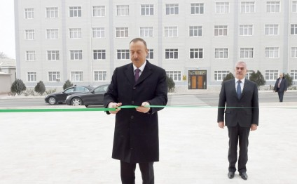 President Ilham Aliyev attended opening of newly renovated building of Nakhchivan city Russian secondary school No3