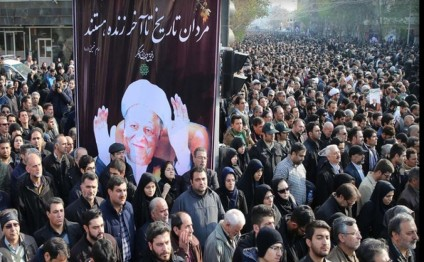Azerbaijan`s parliamentary delegation took part in Former Iranian President's funeral