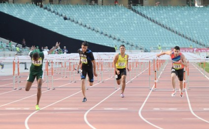 Azerbaijani athlete bags silver in men's 110m hurdles