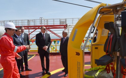 President Ilham Aliyev attended opening of drilling plant after Heydar Aliyev
